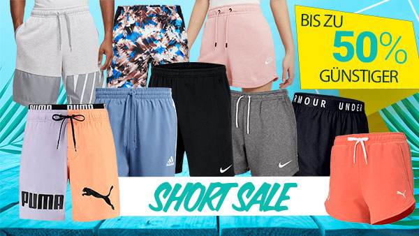 SHORT SALE: Lässige Shorts für Damen & Herren