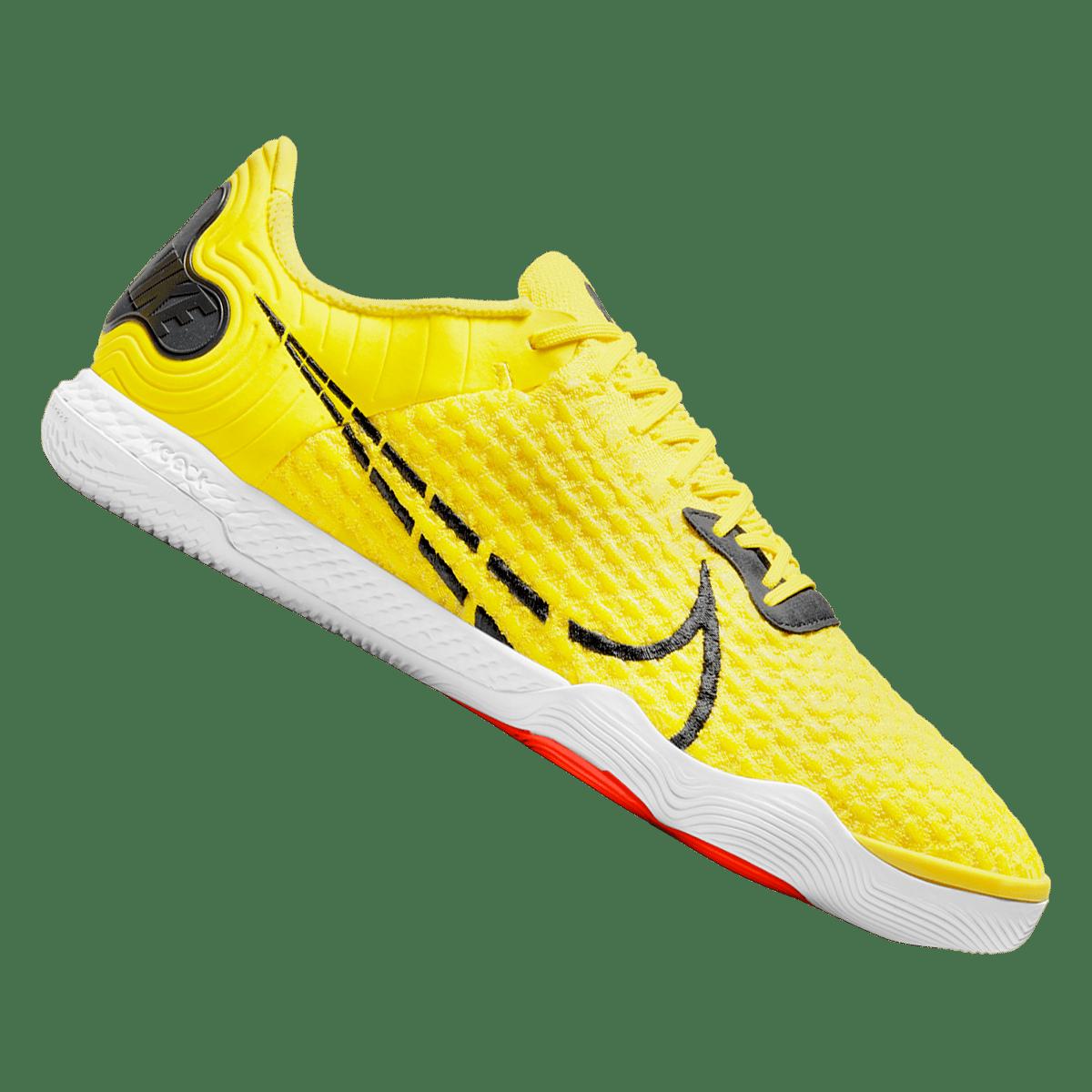 Chaussures de salle React Gato Nike jaune/gris foncé
