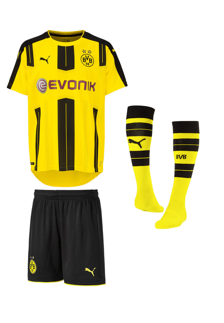 puma bvb kinder trikotset 2016 17 gelb schwarz fussball shop. Black Bedroom Furniture Sets. Home Design Ideas