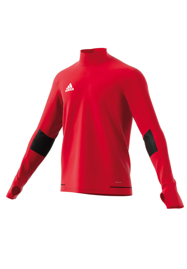 70648e00b7a adidas Sweater Tiro 17 Training Top, rood/wit - Voetbal shop