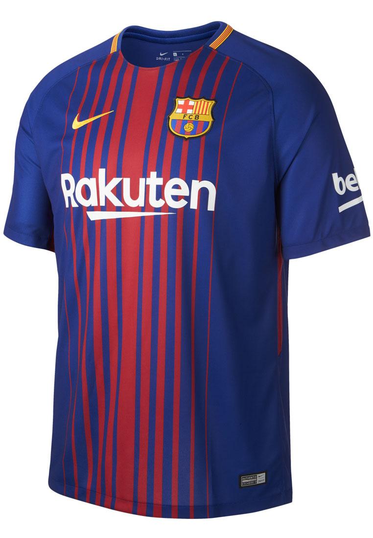 nike fc barcelona herren heim trikot 2017 18 blau rot fussball shop. Black Bedroom Furniture Sets. Home Design Ideas