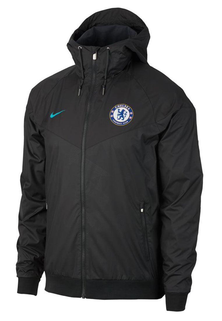 nike chelsea fc fanjacke authentic windrunner schwarz. Black Bedroom Furniture Sets. Home Design Ideas