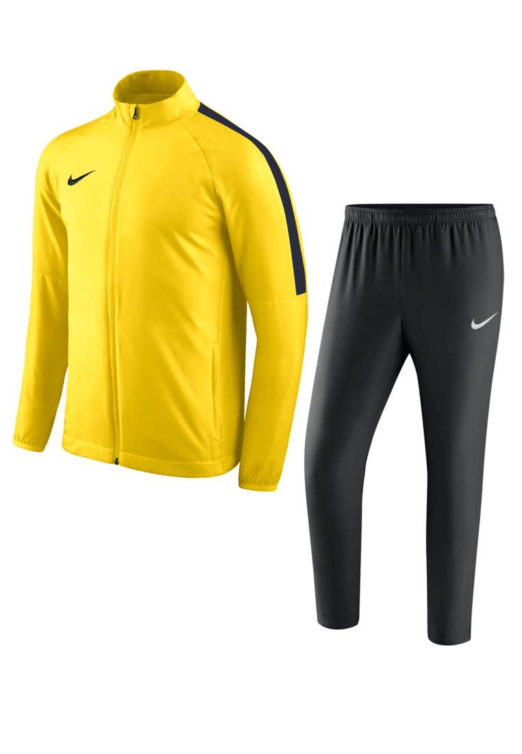 dab937235c7 Nike trainingspak Academy 18 woven tracksuit geel/Zwart - Voetbal shop