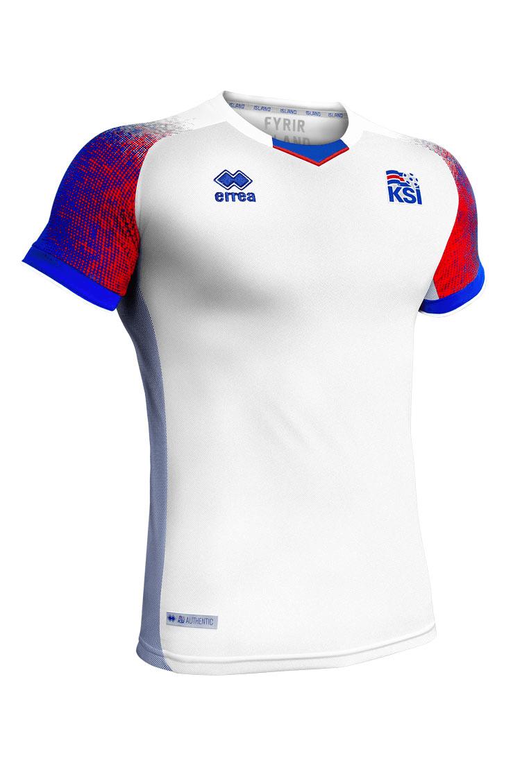 fea8d872630 Errea Iceland Men's Away Jersey WC 2018 white/blue - Football Shop
