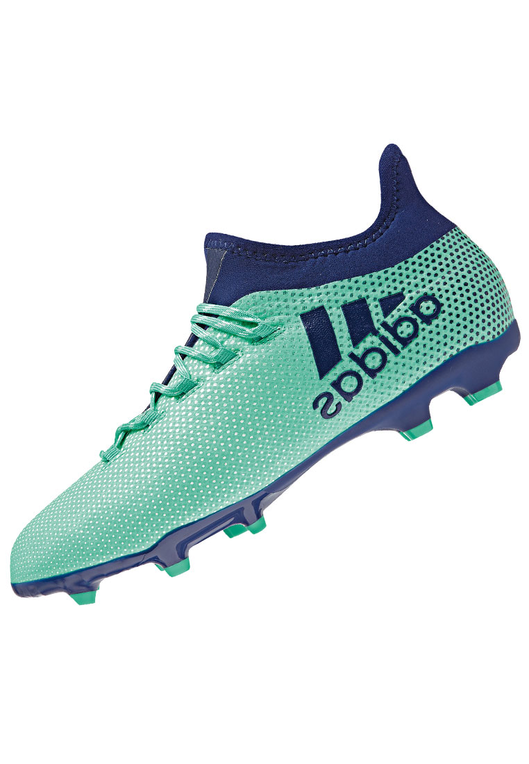 Adidas voetbalschoenen X 17.1 FG J turkooisdonkerblauw