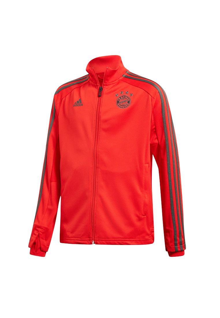 adidas FC Bayern München Kinder Trainingsjacke rotdunkelgrau