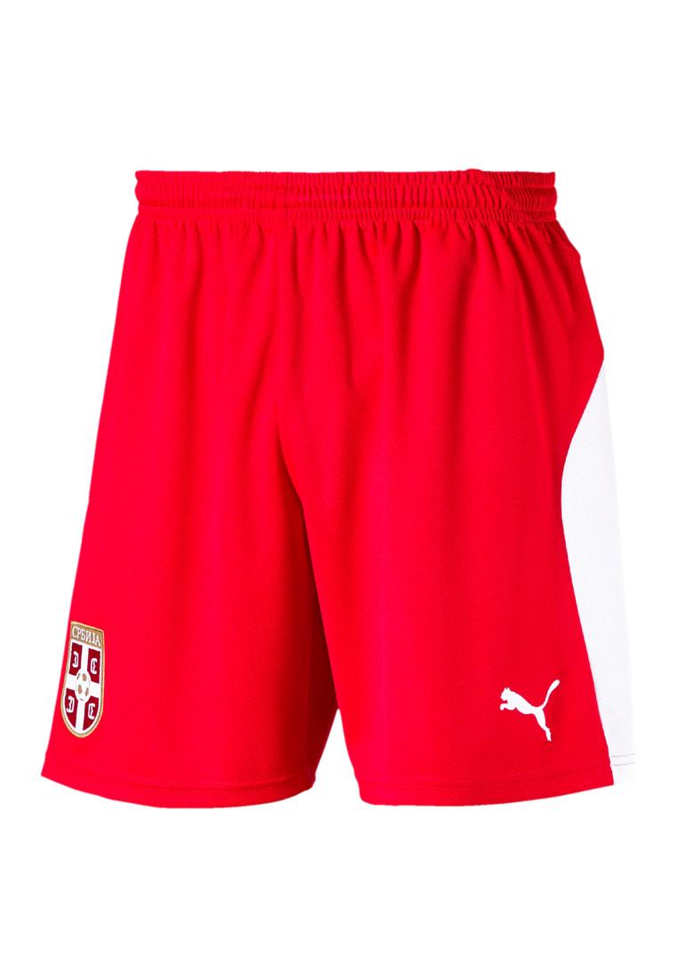 8118e83c64163 Puma Serbien Herren Heim Short rot/weiß