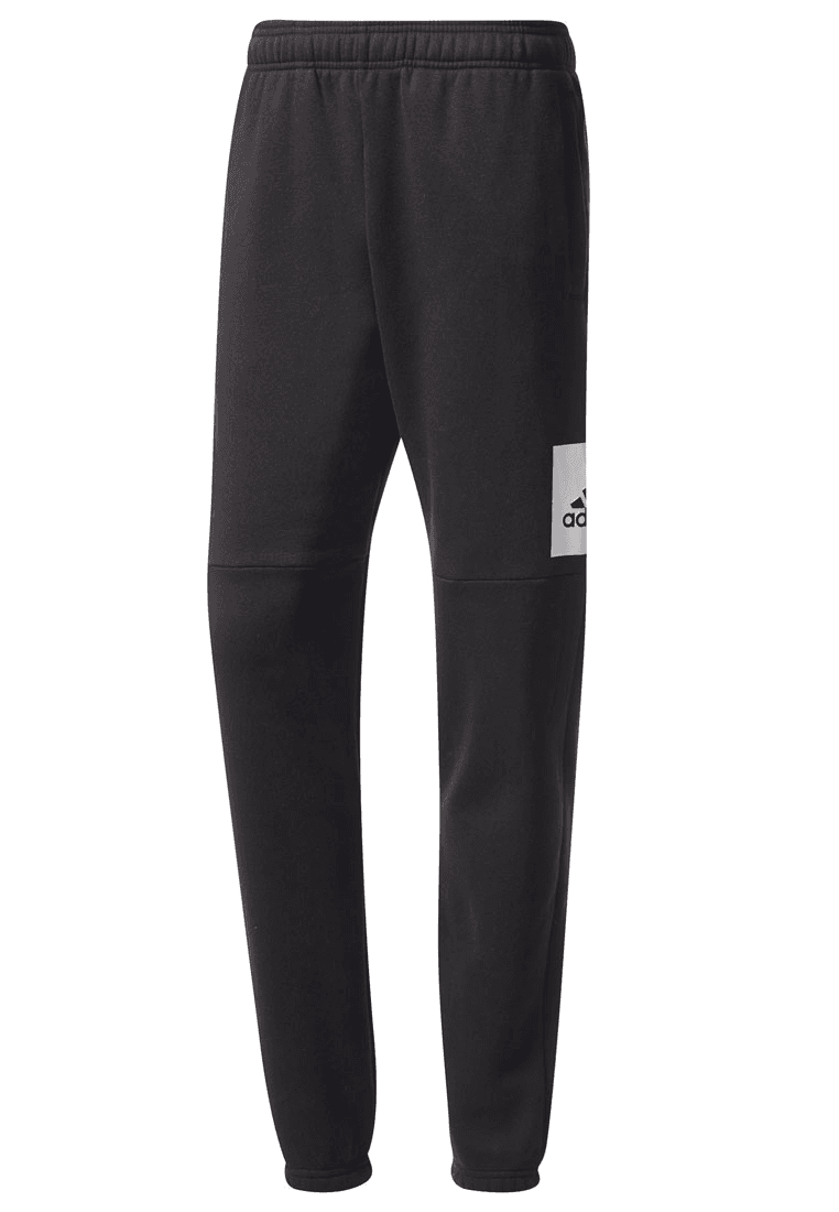 adidas Trainingshose Essentials Box Logo Tapered Pant Fleece schwarzweiß