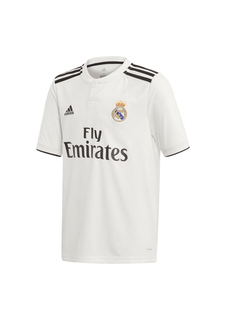 Adidas Real Madrid Kinder Heim Trikot 201819 Weißschwarz