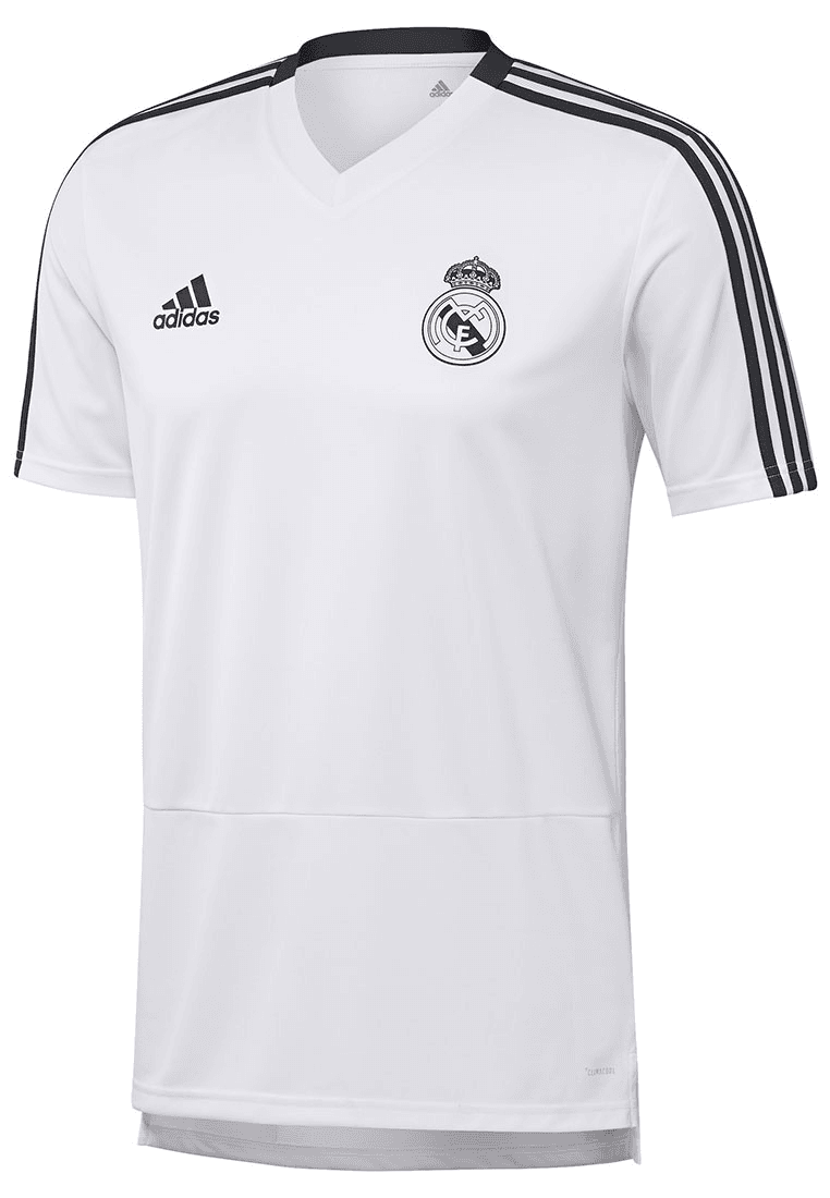 adidas Real Madrid Trainingsshirt weißschwarz Fussball Shop