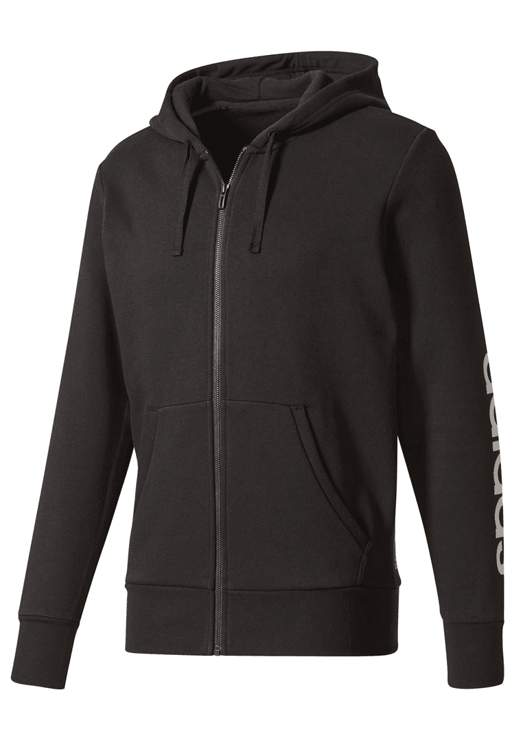 Einkaufen Release-Info zu ungleich in der Leistung adidas Kapuzenjacke Essentials Linear Full-Zip Hoodie Fleece schwarz/weiß