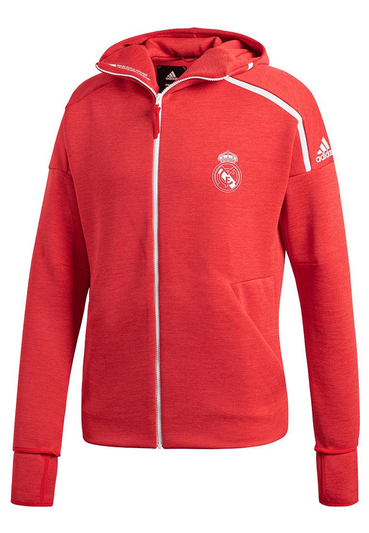 adidas Real Madrid Kapuzenjacke Z.N.E Hoody 3.0 rotweiß