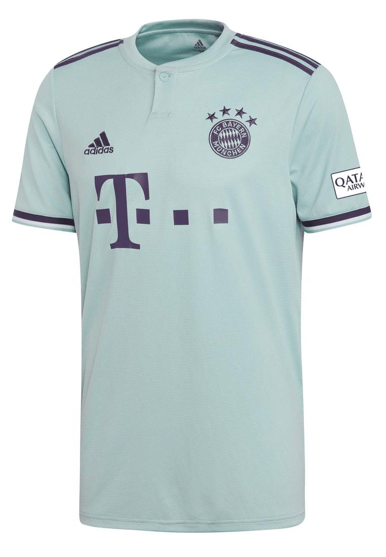 f3f0c35982d642 adidas FC Bayern München Herren Auswärts Trikot 2018 19  mintgrün dunkelviolett Bild 2