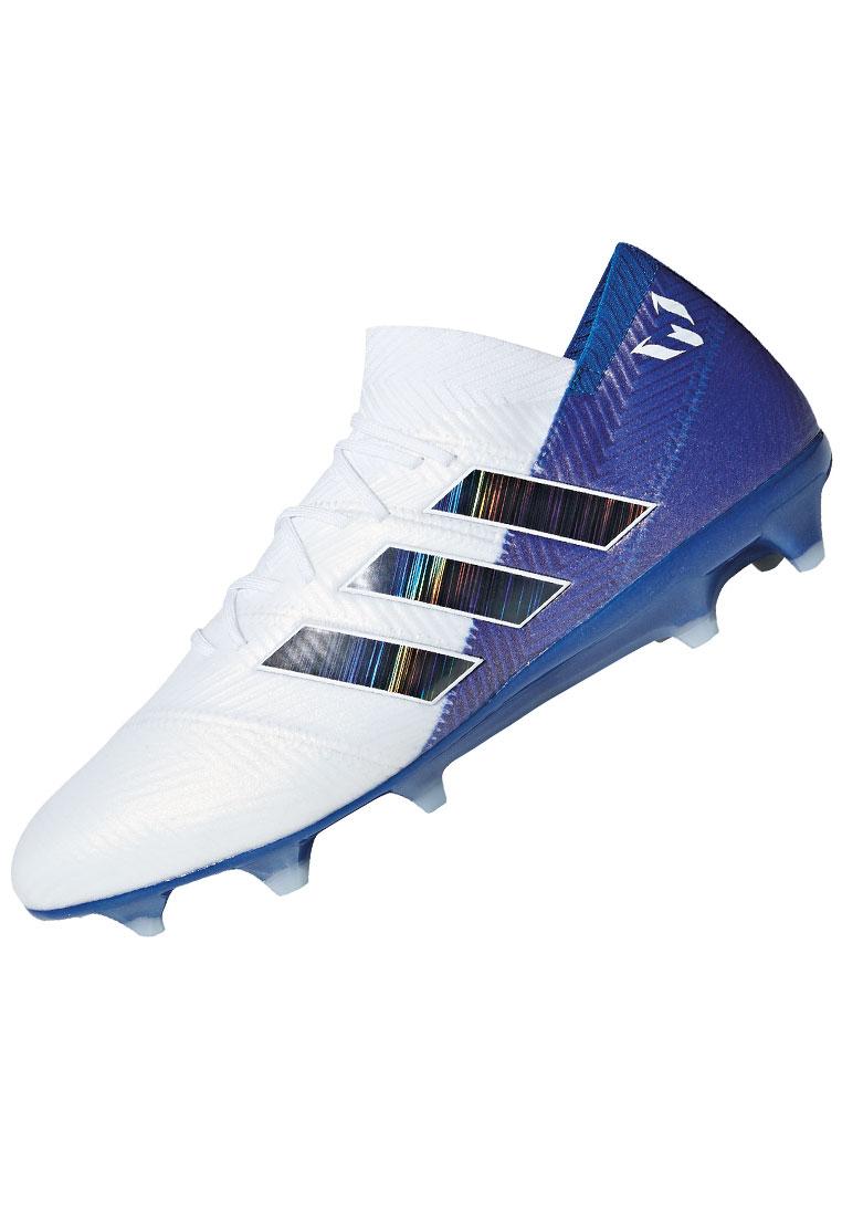 87cb824bf48 adidas Fußballschuh Nemeziz Messi 18.1 FG weiß blau - Fussball Shop