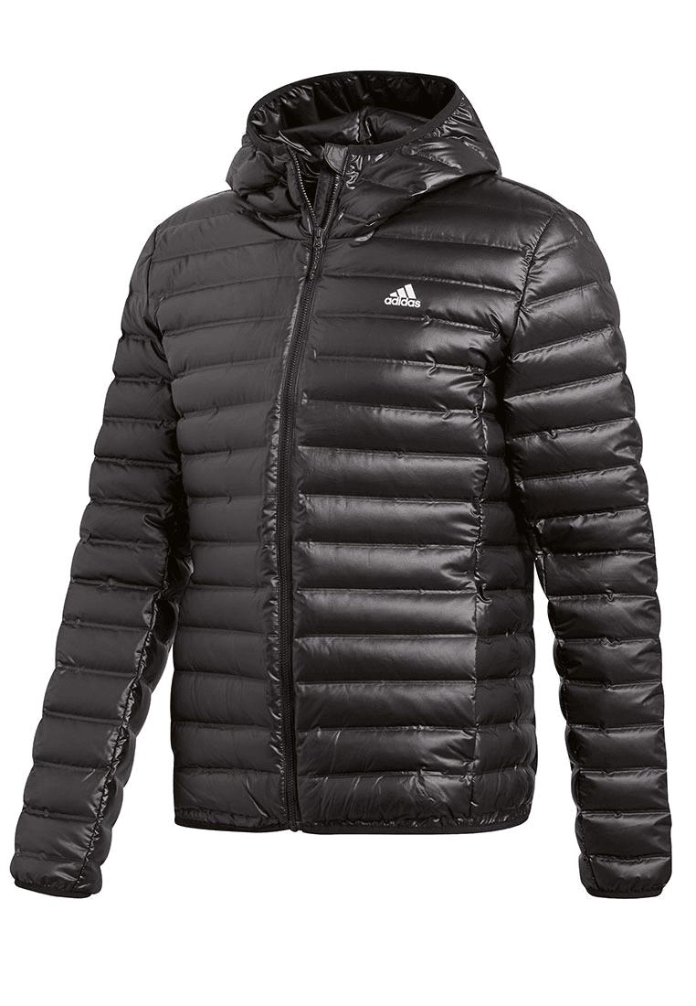adidas Daunenjacke Varilite Hooded Jacket schwarzweiß