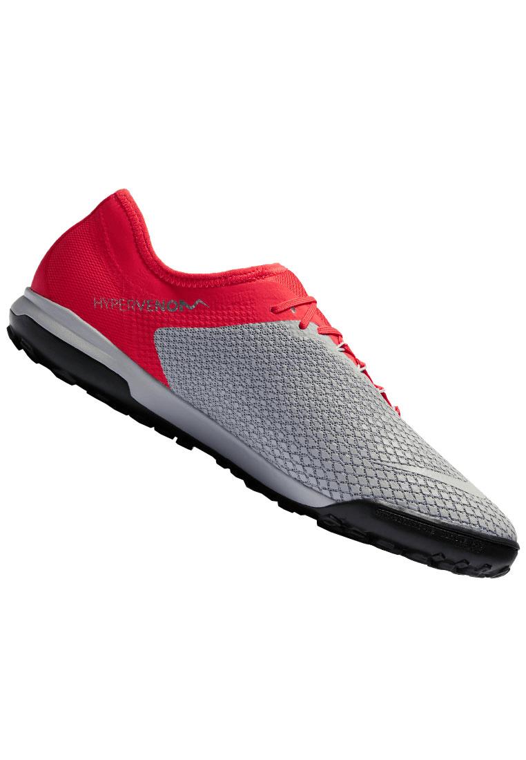 número pollo Opuesto  Nike Fußballschuh Hypervenom Zoom PhantomX III Pro TF Kunstrasen grau/rot -  Fussball Shop