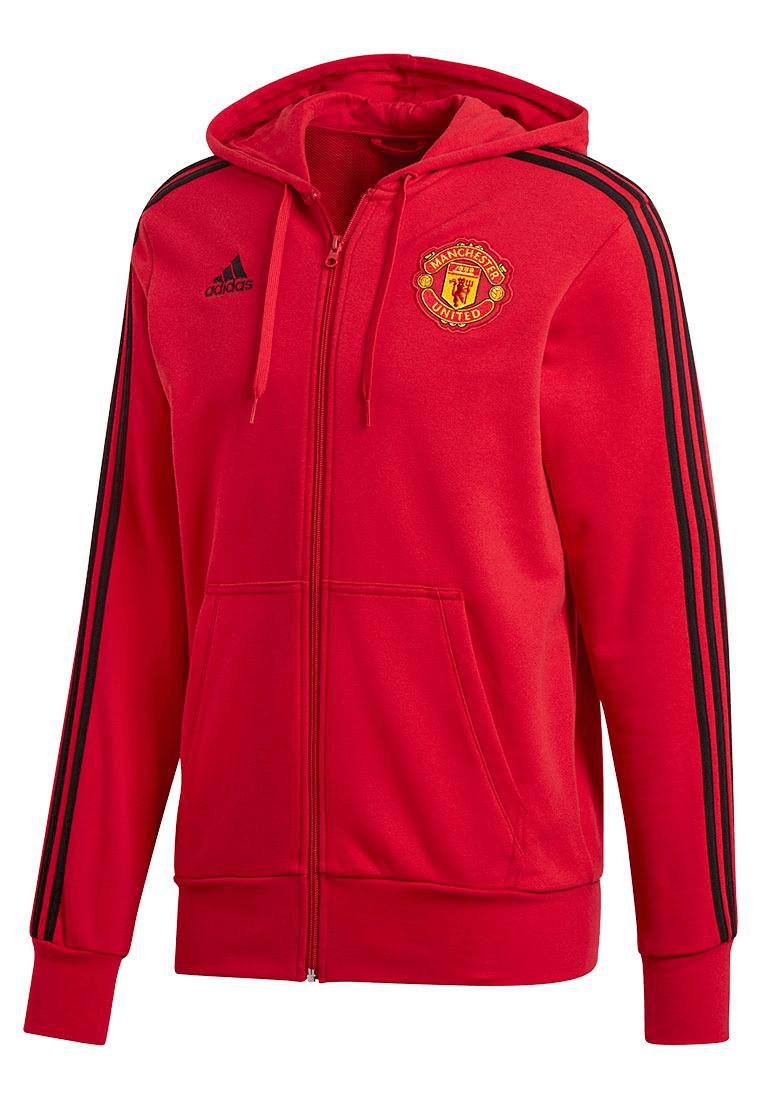 adidas Manchester United Kapuzenpullover 3S Hoody rotschwarz