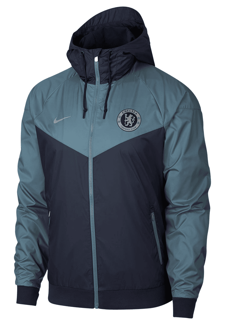Nike Chelsea FC Fanjacke Windrunner Authentic Woven Webjacke CL dunkelblaublaugrau