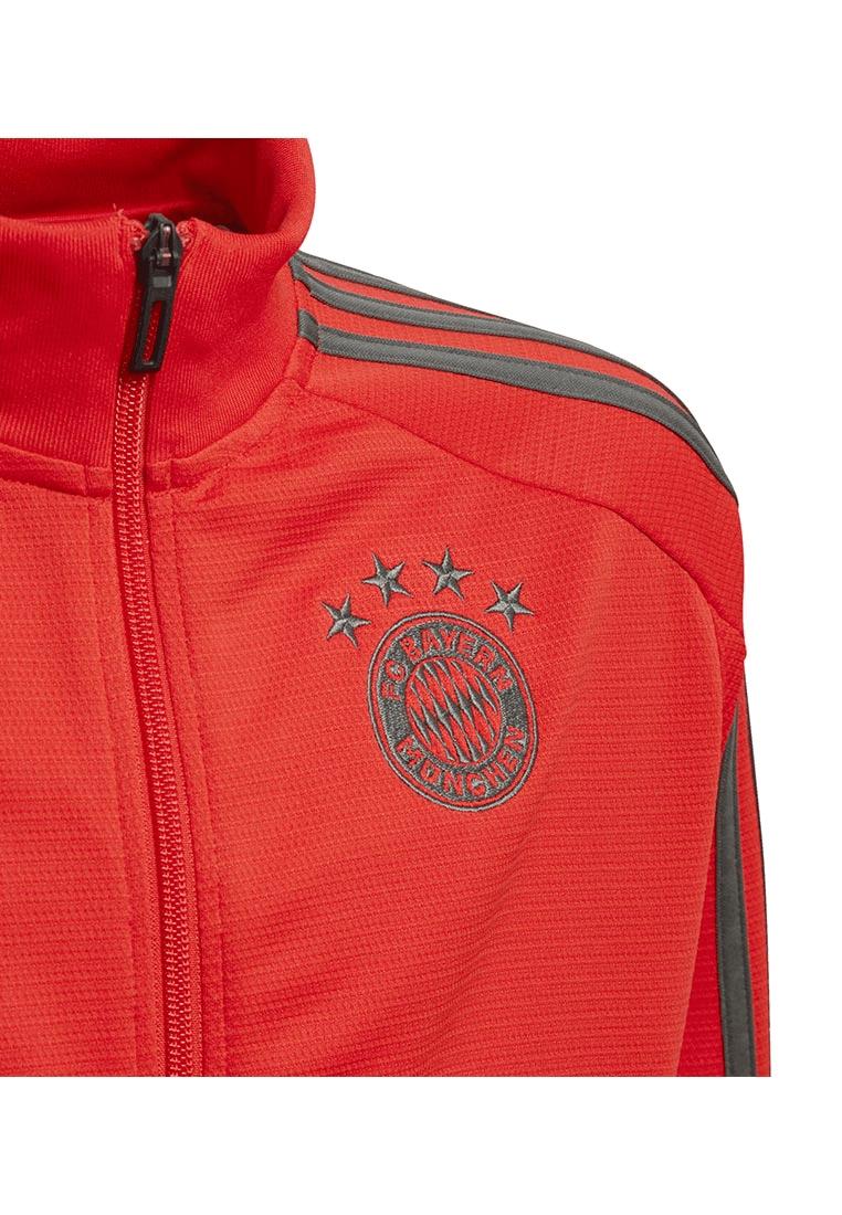 adidas FC Bayern München Kinder Trainingsjacke Track rotdunkelgrau