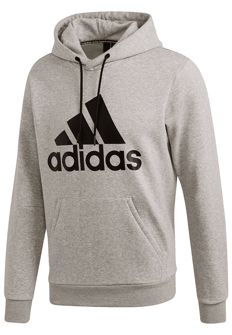 Adidas trui met capuchon Must Haves Badge of Sport Hoody French Terry grijszwart