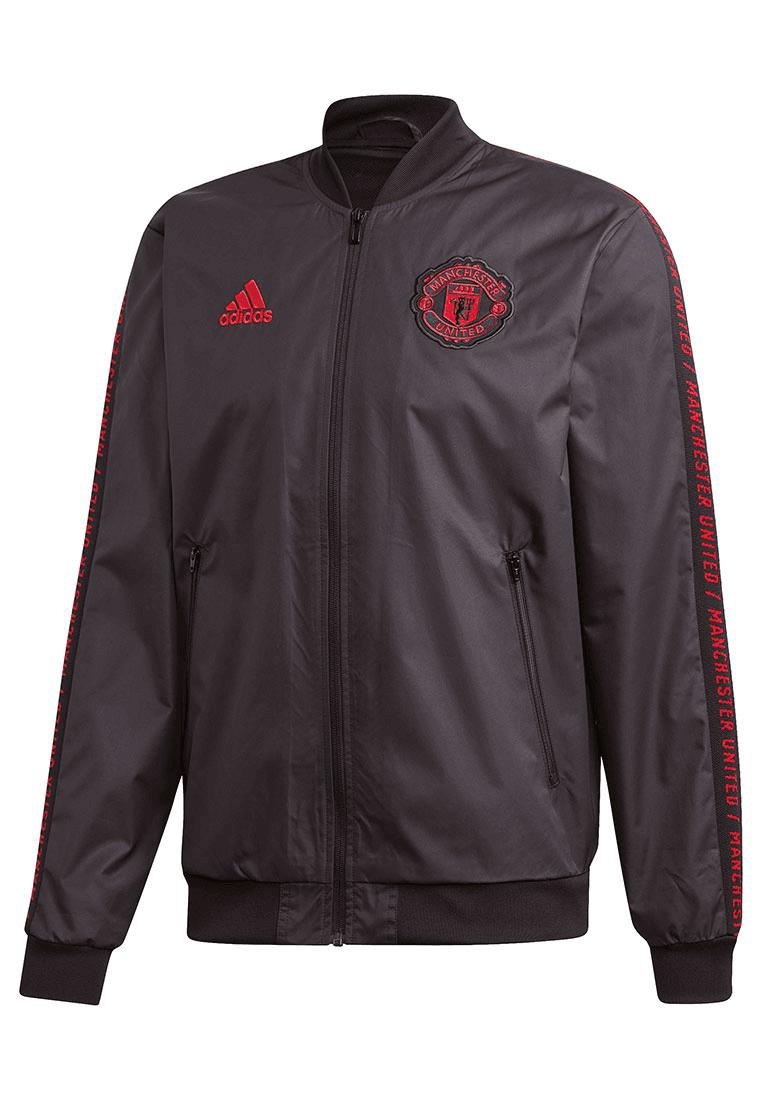 Adidas Manchester United fanjas Anthem zwartrood Voetbal shop