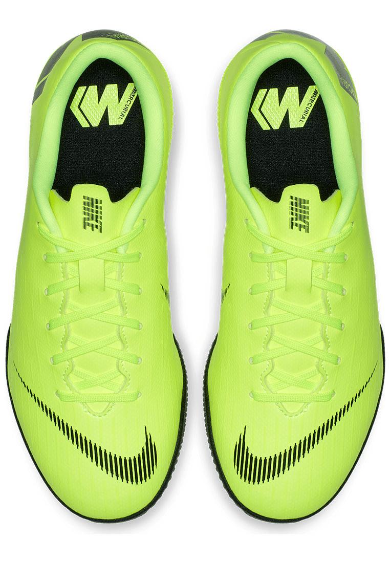 Nike Kinder Hallenschuh Mercurial VaporX XII JR Academy GS IC gelb fluoschwarz