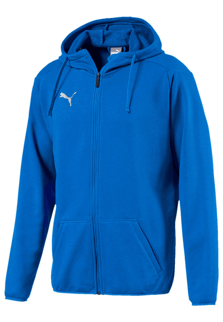 Puma Kapuzenjacke Liga Casuals Hoody Jacket blauweiß