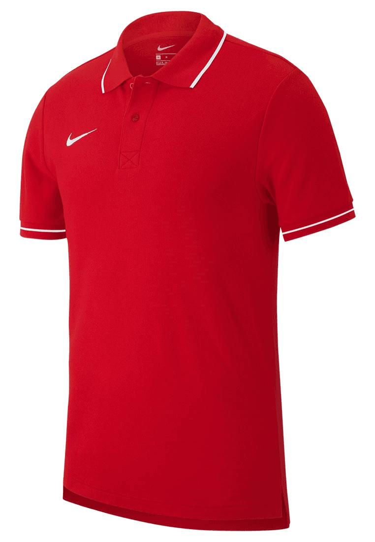 efc237061d4 Nike poloshirt Team Club 19 SS rood/wit - Voetbal shop