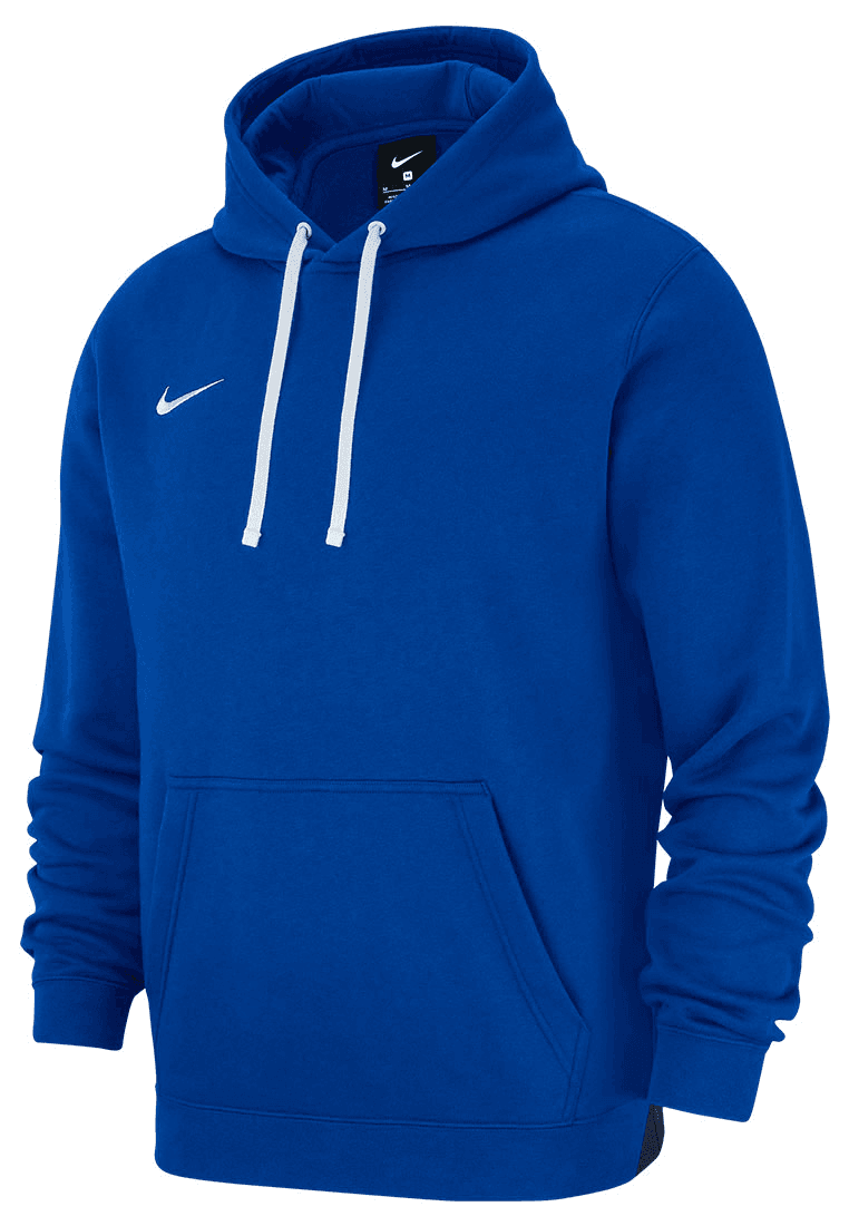 0c12c586c403 Nike Kapuzenpullover Team Club 19 Fleece Hoody blau weiß - Fussball Shop