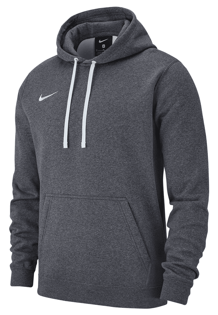 05a85bc54c5d Nike Kapuzenpullover Team Club 19 Fleece Hoody grau weiß - Fussball Shop