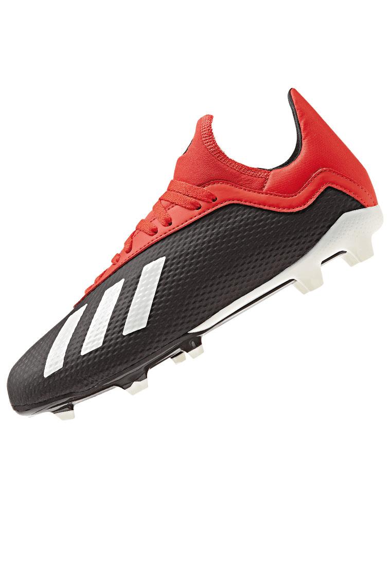 adidas Kinder Fußballschuh X 18.3 FG J schwarzrot