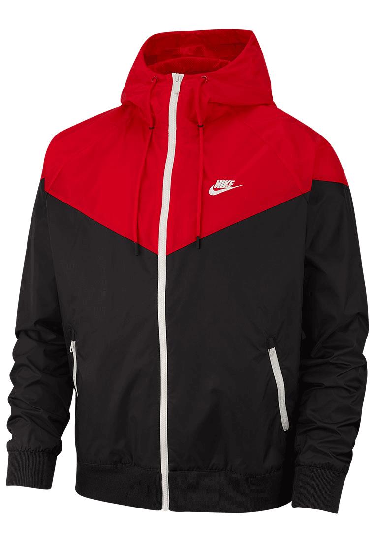 5e4f745cf019f Nike Kapuzenjacke Sportswear Windrunner Jacket schwarz rot Bild 2