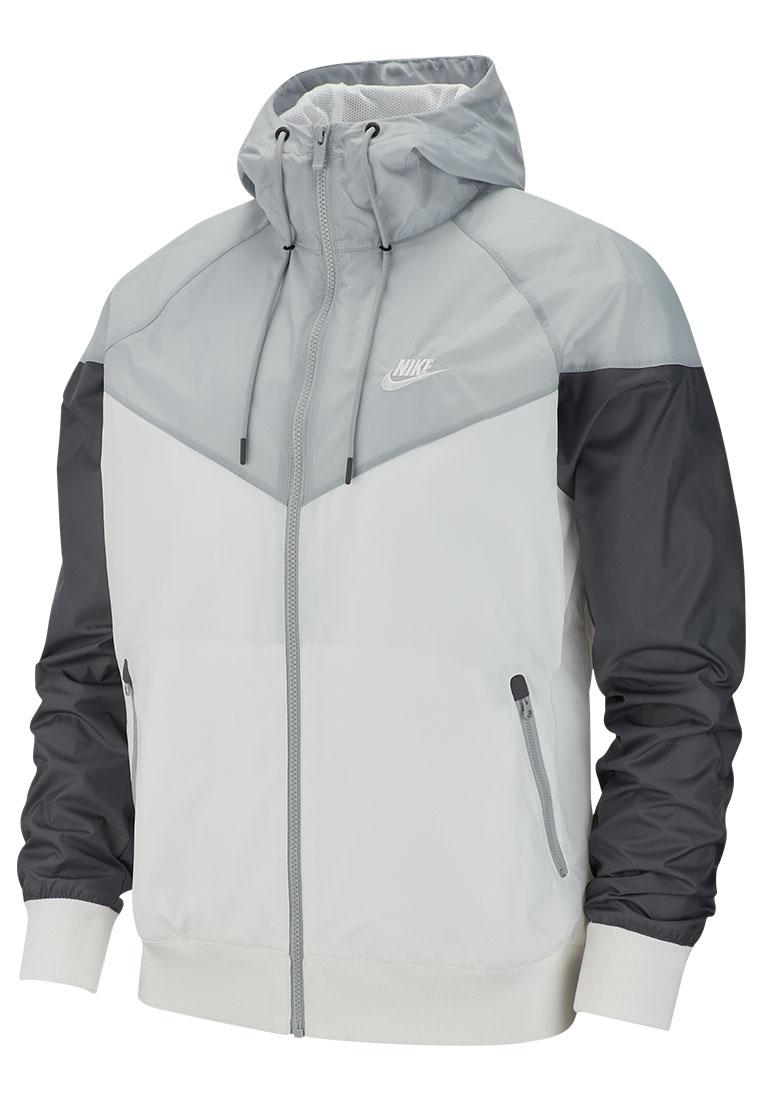 d6059d73c224 Nike Kapuzenjacke Sportswear Windrunner Jacket weiß grau - Fussball Shop