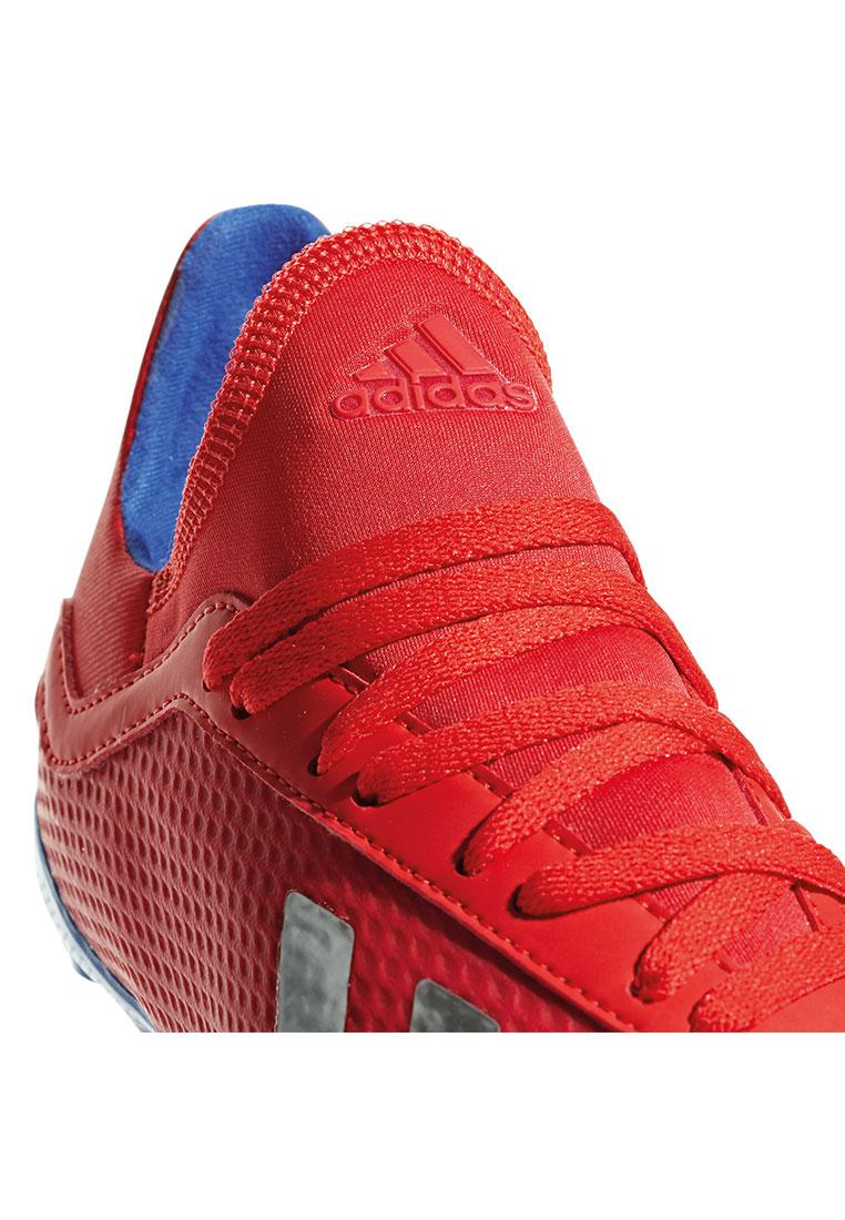 adidas Kinder Fußballschuh X 18.3 FG J rotsilber Fussball