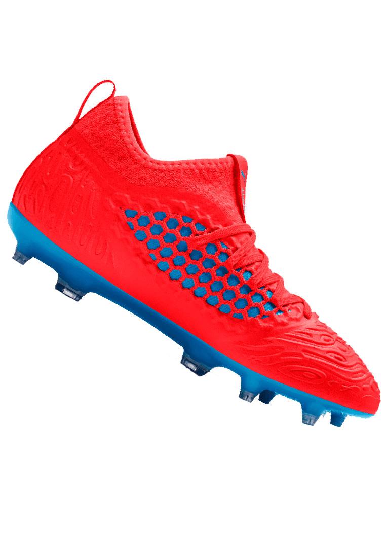 Puma voetbalschoenen voor kinderen Future 19.3 Netfit FG/AG Jr. rood/blauw  - Voetbal shop