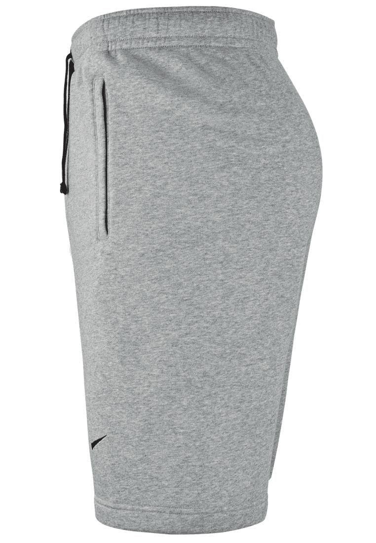 Nike short Fleece Team Club 19 Crew lichtgrijszwart