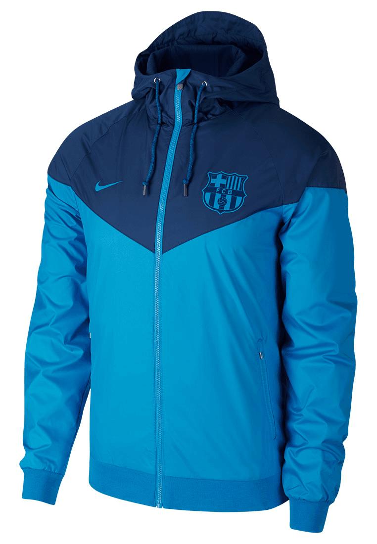 Dispuesto Miseria colgante  Nike FC Barcelona Fanjacke Authentic Windrunner hellblau/dunkelblau -  Fussball Shop