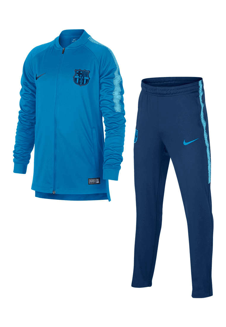 quite nice latest design huge sale Nike FC Barcelona Kinder Trainingsanzug hellblau/dunkelblau