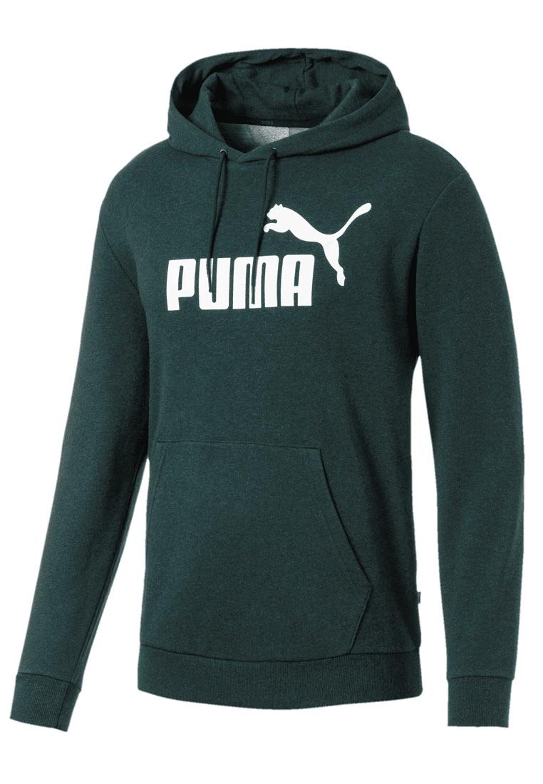 Puma Kapuzenpullover Essential + TR Hoody dunkelgrünweiß