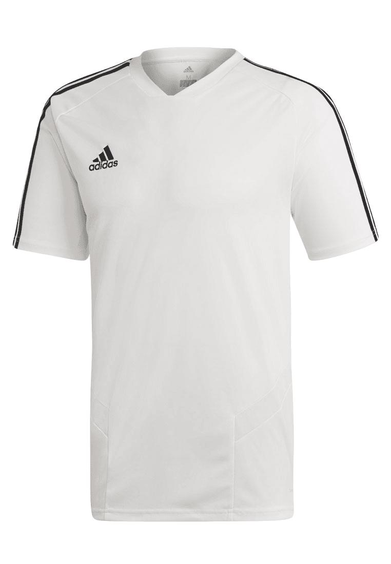 2c1fd7599f5 Adidas shirt Tiro 19 trainingsshirt wit/zwart - Voetbal shop