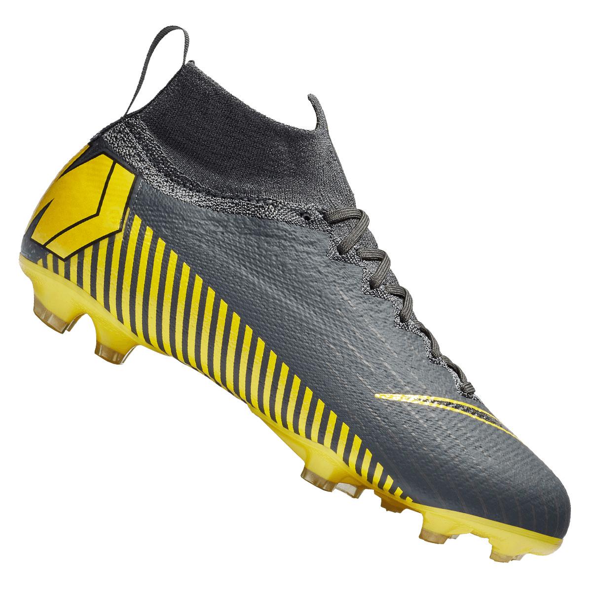 Nike voetbalschoenen Mercurial Superfly VI JR Elite FG voor kinderen donkergrijsgeel Voetbal shop