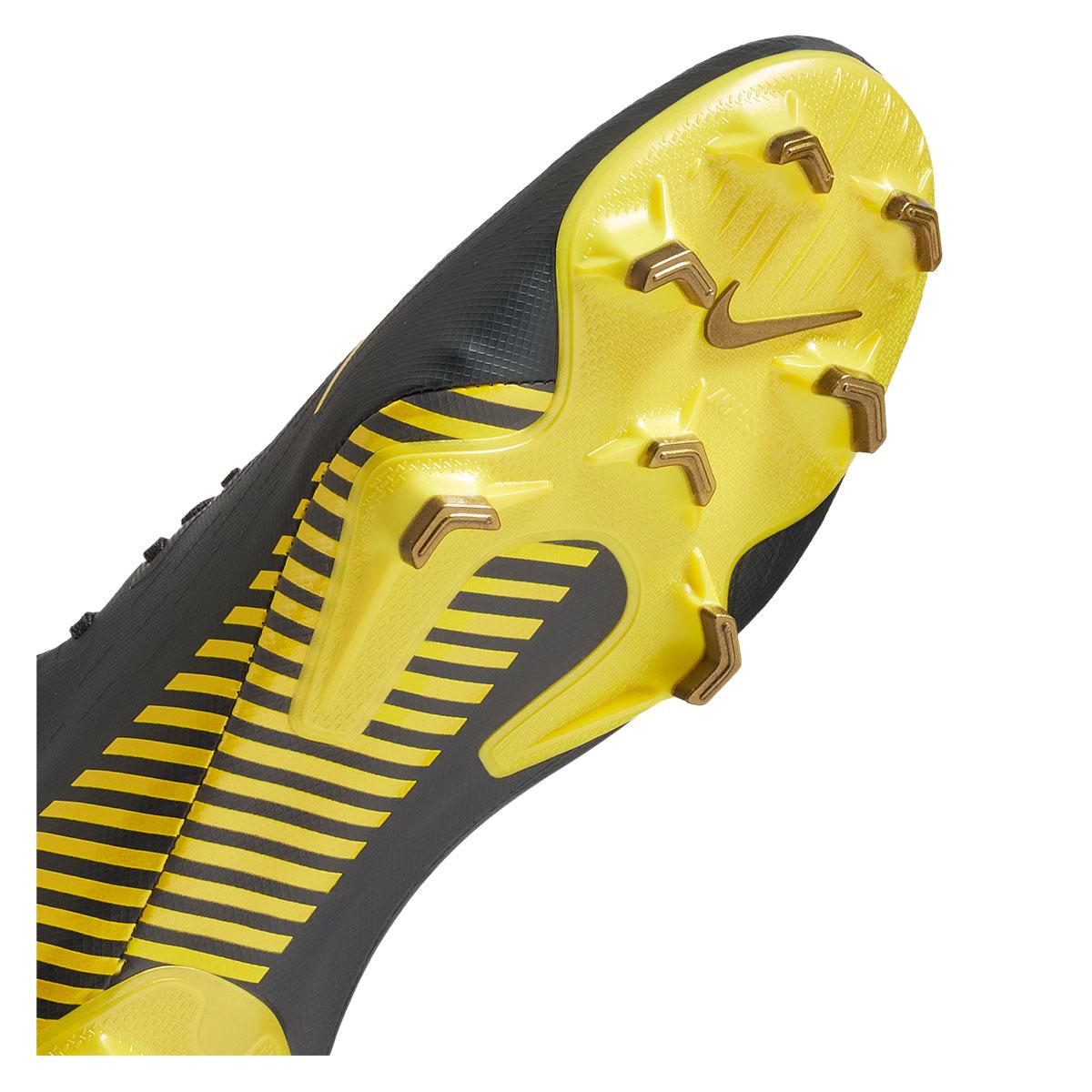 Nike voetbalschoenen Mercurial Vapor XII Pro FG donkergrijsgeel