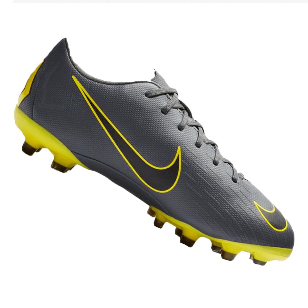 Nike Kinder Fußballschuh Mercurial Vapor XII JR Academy GS FGMG dunkelgraugelb
