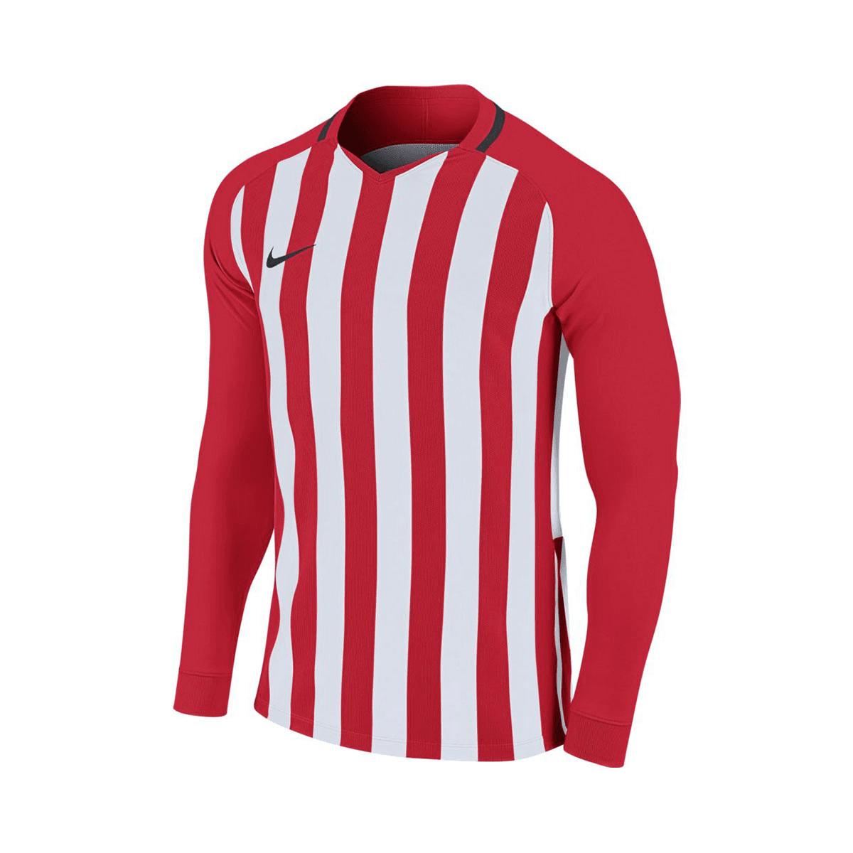 Nike Blau Weiß Fußball Langarm Trikot Striped Division