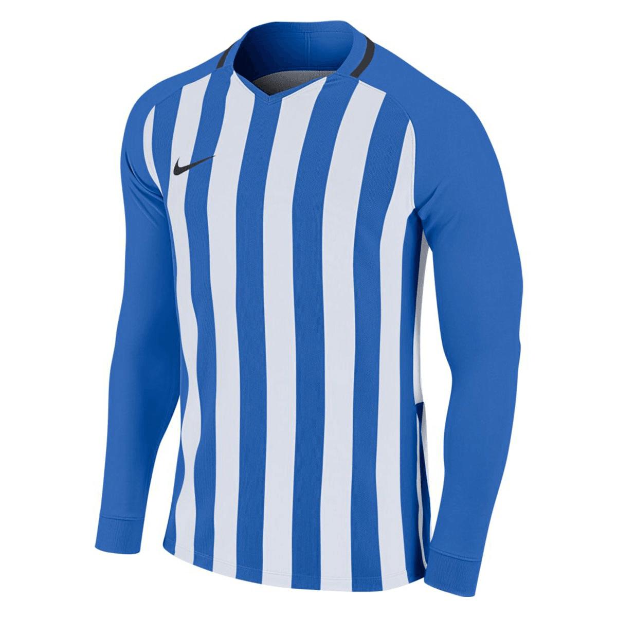 Nike lange mouwen shirt Striped Division III LS Jersey blauwwit