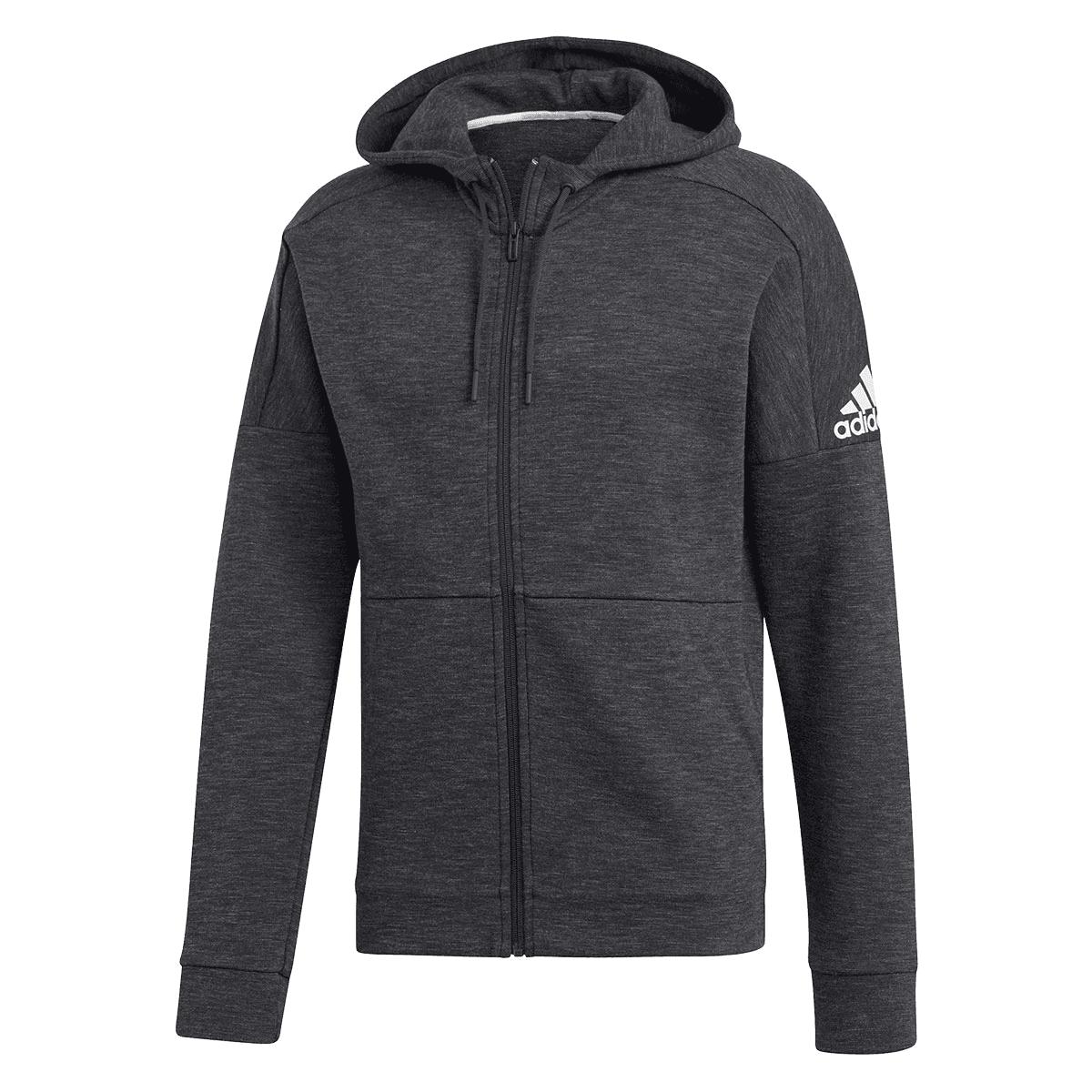 Adidas jas met capuchon Stadium ID zwartwit