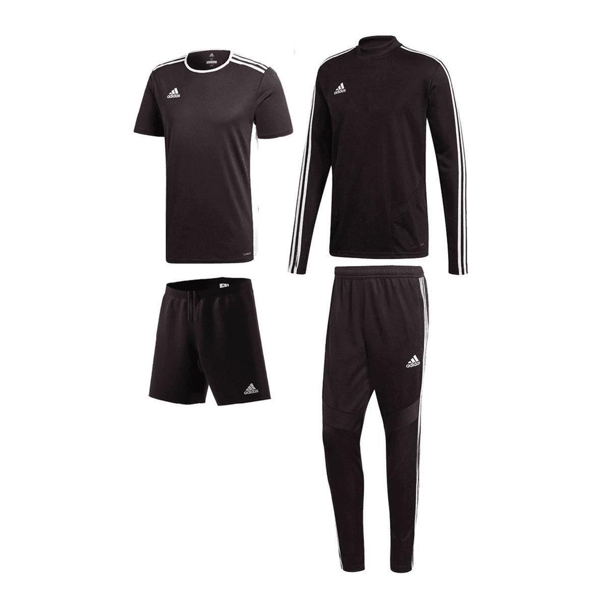 cb0c3502b28 Adidas trainingsset Tiro 19 4-delig zwart/wit - Voetbal shop