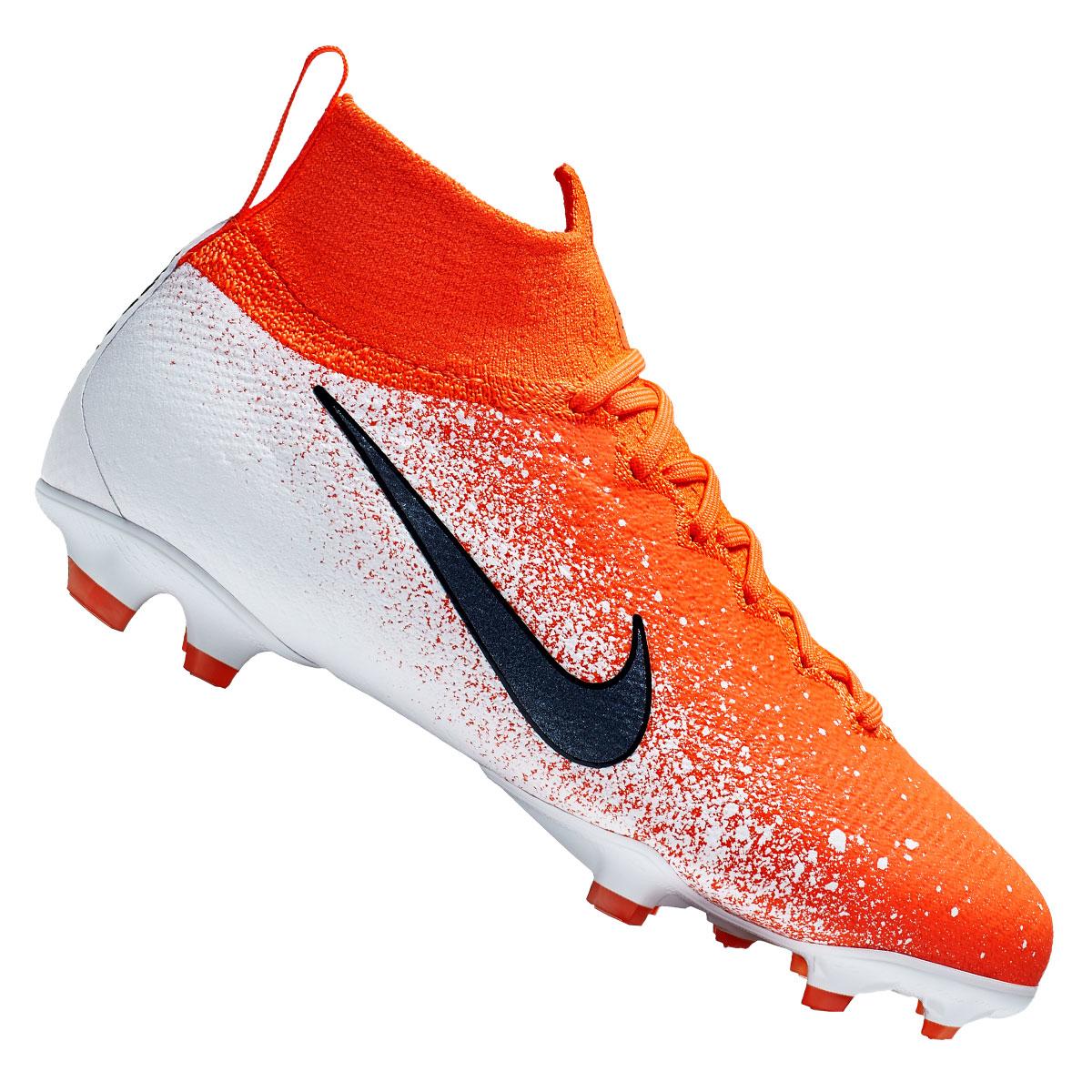 Nike Kinder Fussballschuh Mercurial Superfly Vi Jr Elite Fg Orange Weiss