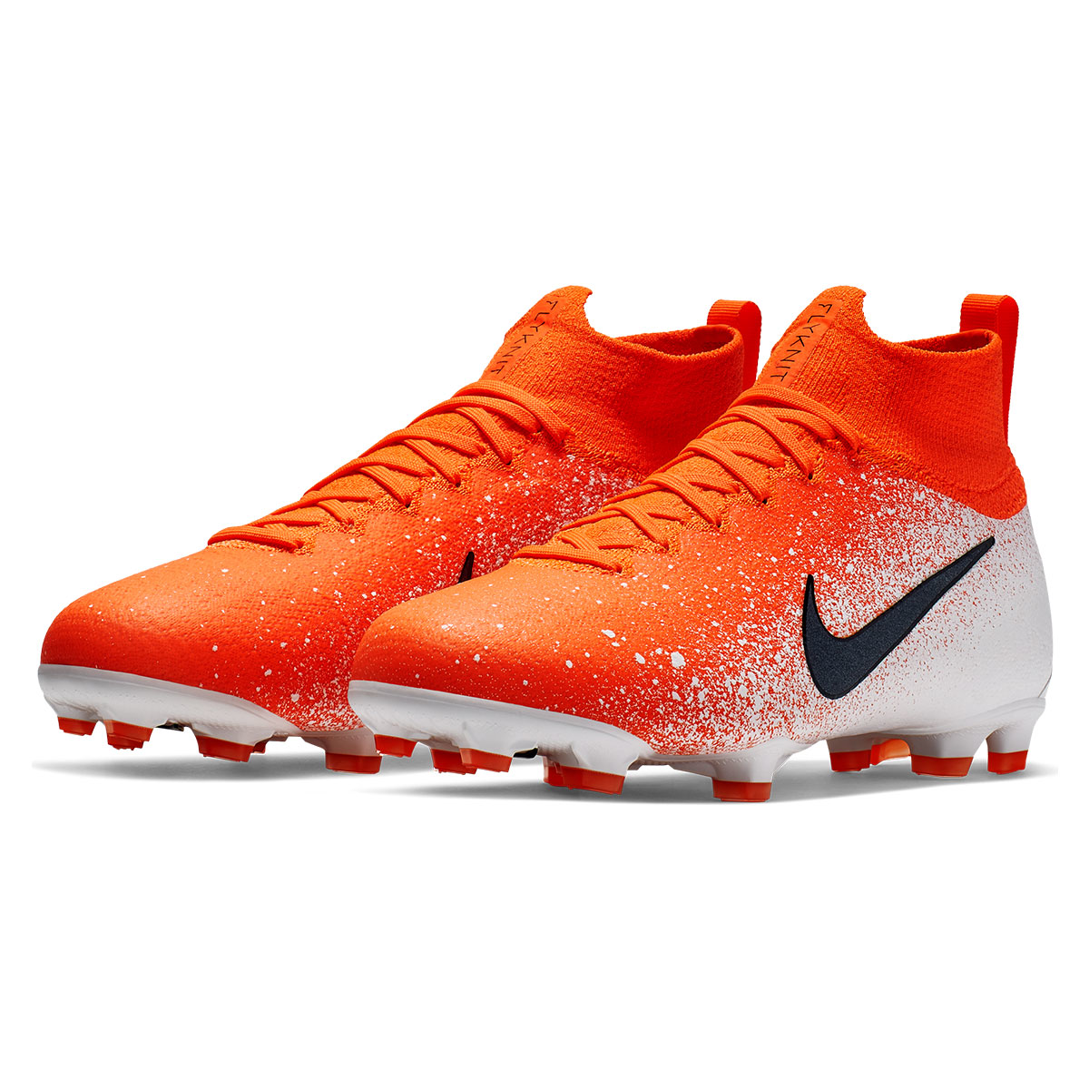 Nike Kinder Fußballschuh Mercurial Superfly VI JR Elite FG orangeweiß
