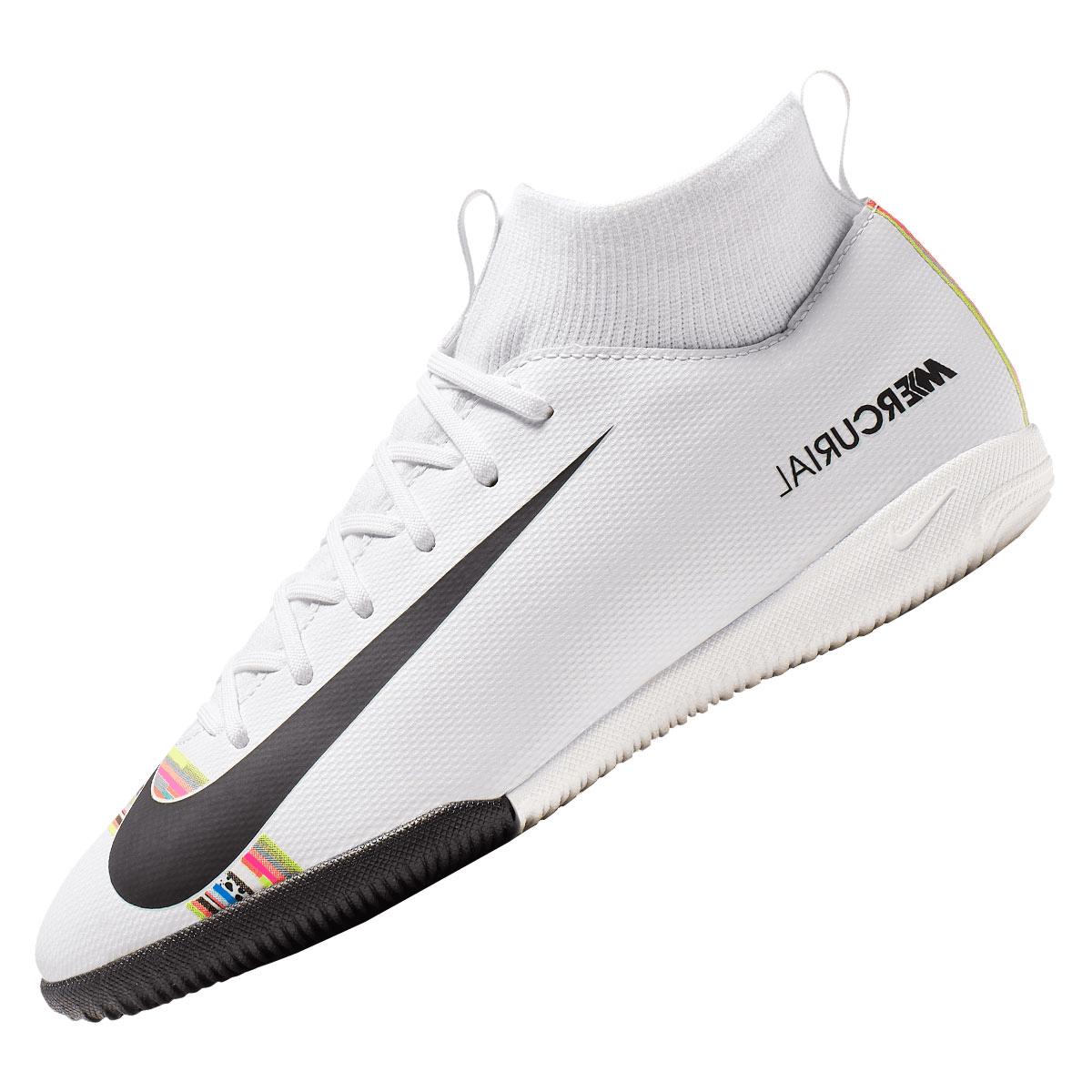 4c97a136afdeb Nike Kinder Hallenschuh Mercurial Superfly VI JR Academy GS CR7 IC  weiß schwarz Bild 3